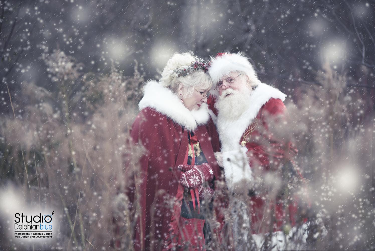 Santa and Mrs. Claus CHRISTMAS portrait, www.yoursantatoo.com