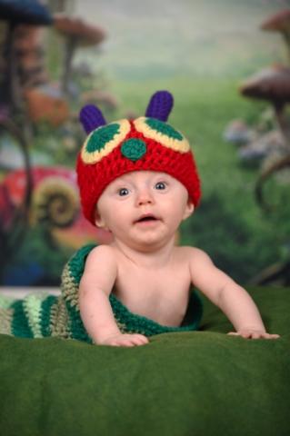 Inch Worm Baby Session - Studio Delphianblue, Danielle Albrecht Minneapolis Photographer