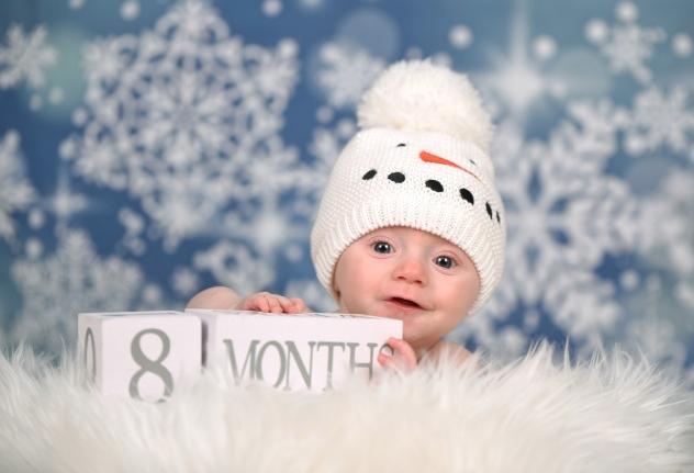 Snow Baby Session - Studio Delphianblue, Danielle Albrecht Minneapolis Photographer